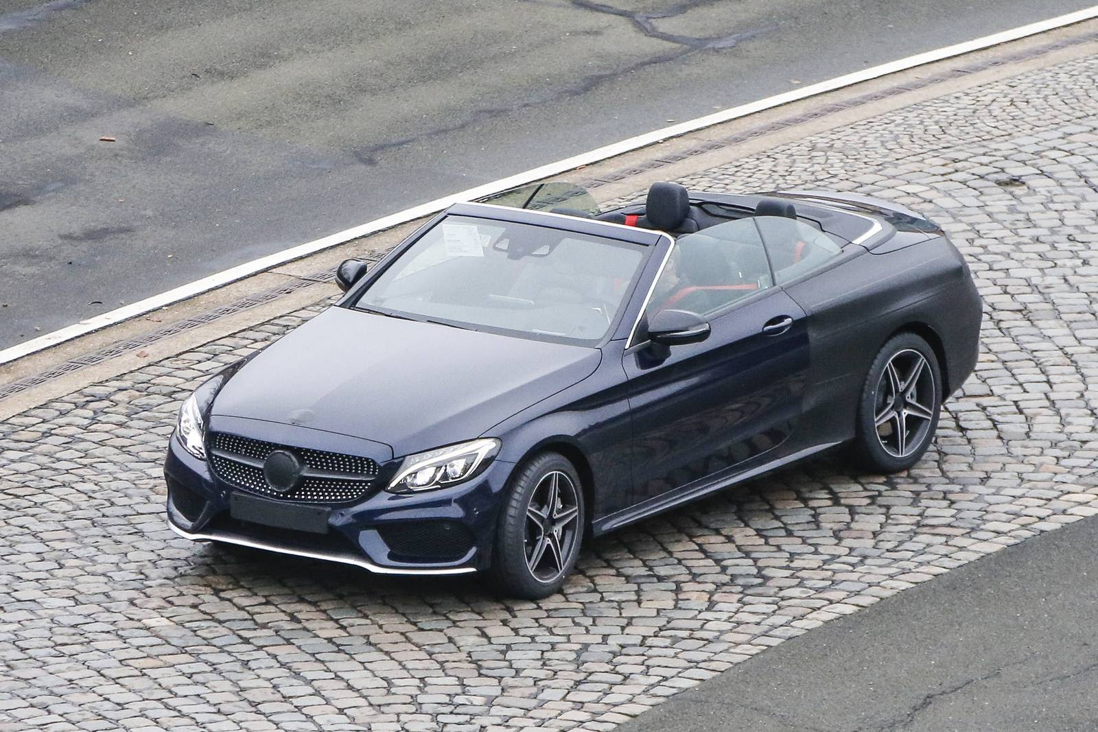 Spy Images From Drop Top 2017 New Mercedes C Class Prototype!