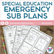 Sub Plans Special Education