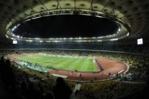 Красавец-стадион НСК Олимпийский в преддверии матча