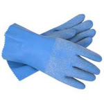 """Imperial 89057 Blue Grit Textured Rubber Coated Gloves, 12"""", Large"""