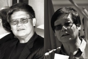 (T) Cựu Thủ khoa Trường Võ Bi Quốc gia Việt Nam - Khóa 20,  cựu đại úy VNCH Quách Tinh Cần (2010). (T) SV thân cộng, doanh nhân Quách Tinh Văn (2014). Nguồn: DCVOnline tổng hợp