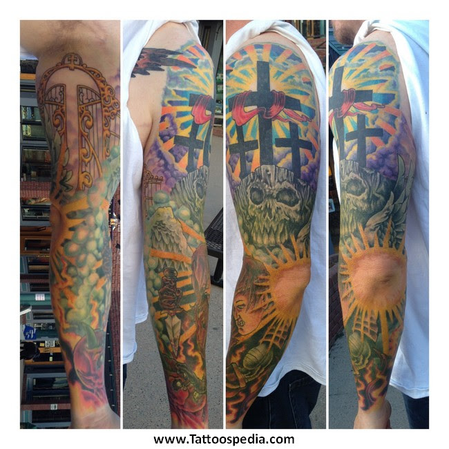 Sleeve Tattoos Heaven Hell 1