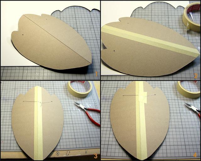 Tutorial for cardboard necklace hanger-1