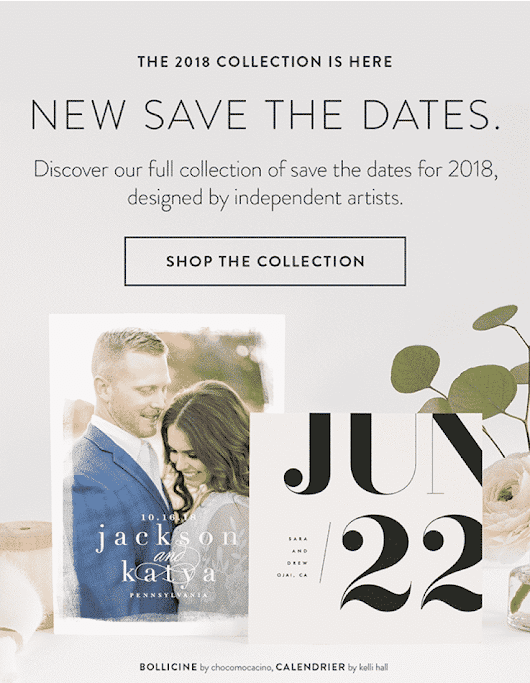 Minted's New Save the Date Collection | The Budget Savvy Bride