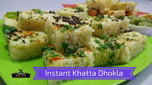 Instant Khatta Dhokla (White Dhokla) Recipe by Cooking with Smita