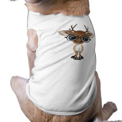 Nerdy Baby Deer Wearing Glasses Shirt