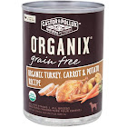 Castor & Pollux Organix Grain Free Canned Dog Food Organic Turkey Carrots & Potato Recipe 12.7 oz.