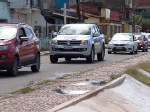 Carreata em Ilhéus, região sul da Bahia (Foto: Reprodução/TV Santa Cruz)
