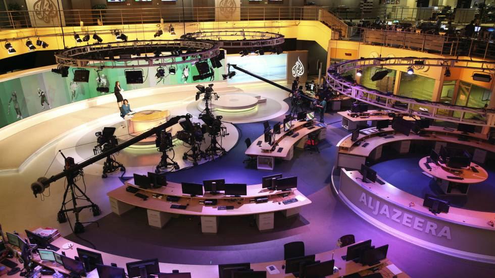 Imagen archivo del estudio de Al-Jazeera International en Doha, Qatar.