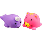 JigglyDoos Series 1 Purple Narwhal & Pink Cat Squeeze Toy 2-Pack