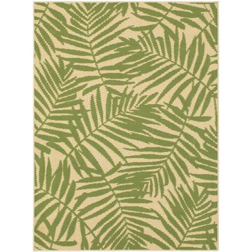 Mainstays Palm Outdoor Area Rug Green