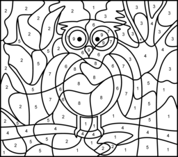Owl Coloring Page. Printables. Apps for Kids.