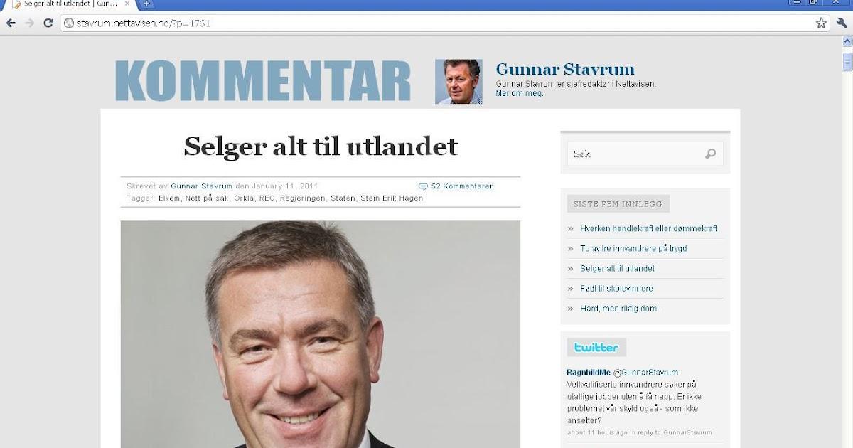 4f97d29d johncons: Her kan man se at Nettavisen, og Gunnar Stavrum, hermer etter  johncons-blogg
