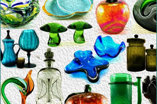 Vintage Glassware at Retro Art Glass View All Glass