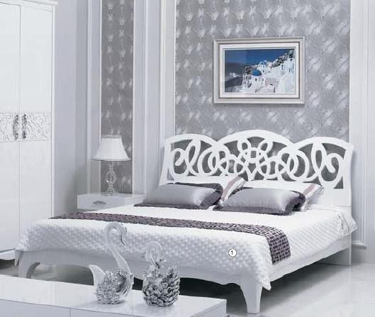 Panel Yatak Odası Mobilyaları Ev Odası Mobilyaları Beyaz Parlak Boyama