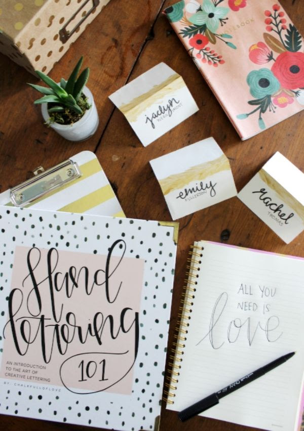 Learning the art of handlettering -- practice makes perfect!