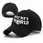 Wayne's World Adult Adjustable Black Baseball Hat Cap