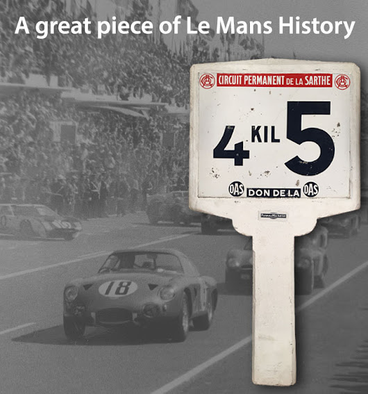 24 Hours of Le Mans Michelin Marker Sign Auction
