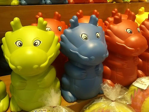 Colorful dragon coin bank in sm dept store by popazrael