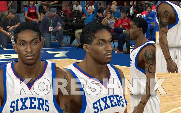 NBA 2K12 Philadelphia 76ers Cyberface Pack V2 - Enhanced Tattoos Download