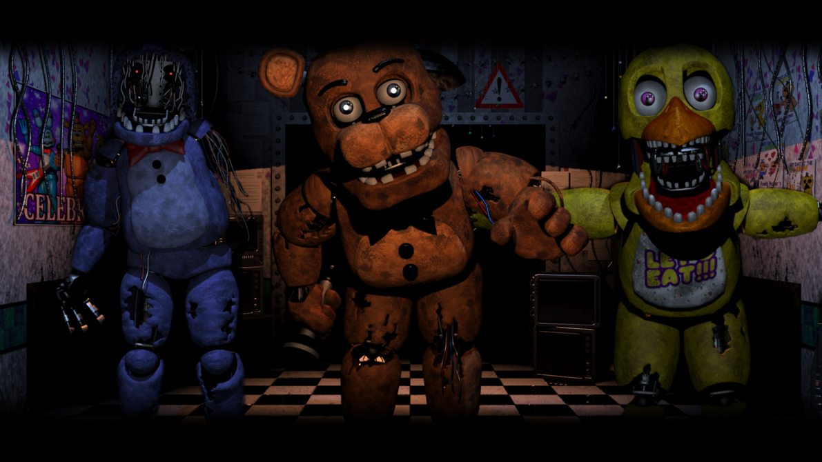 Old Gang Five Nights At Freddy S 2 Wallpaper By Bloodyhorrible