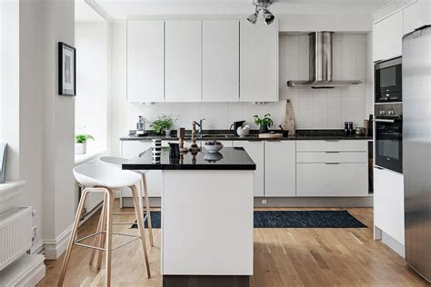 black  white themed scandinavian apartment  modern