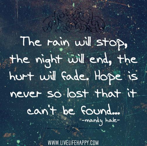The Rain Will Stop Live Life Happy