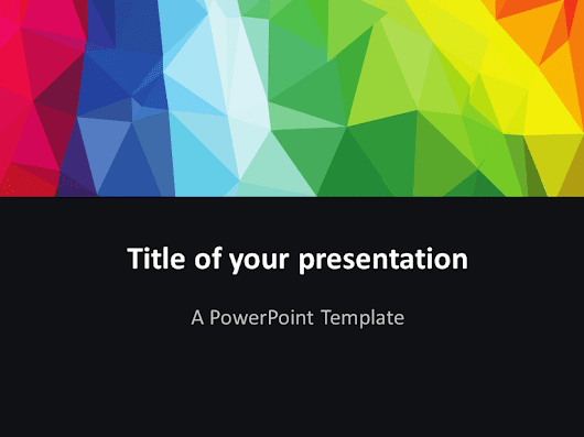 Modern Polygons PowerPoint Template - PresentationGo.com