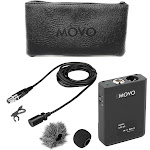 Movo Photo XLR Lavalier Omnidirectional Condenser Microphone with Phantom Power Supply Body Pack, 12mm Mic Caps LV22OD
