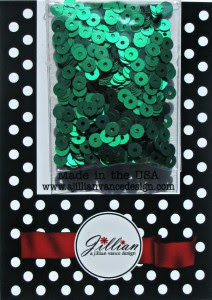 Kelly Green Satin 4mm Sequins (A Jillian Vance Design)