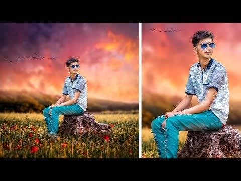 Photoshop Manipulation Tutorial || poppy flower garden manipulation