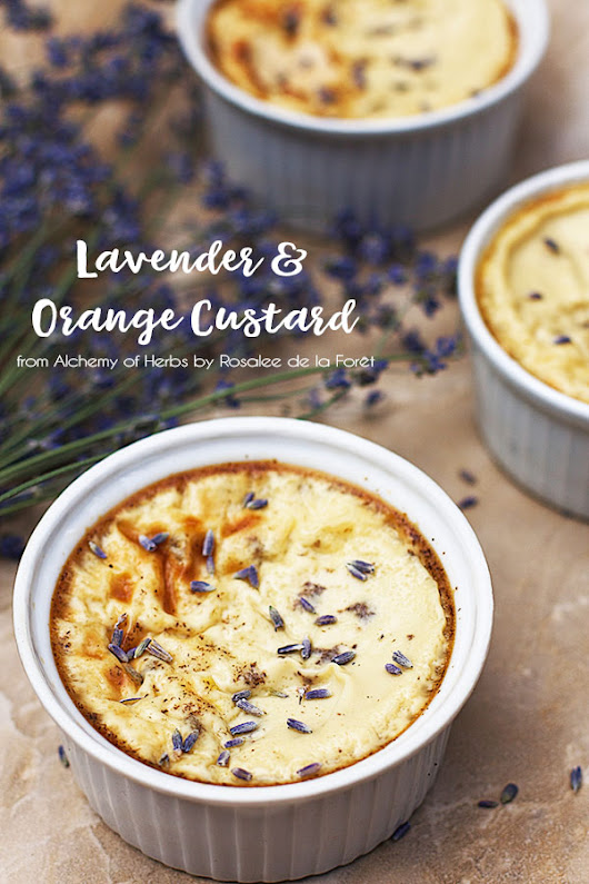 Lavender & Orange Custard :: Gluten-Free, Refined Sugar-Free, Dairy-Free Option - Delicious Obsessions®