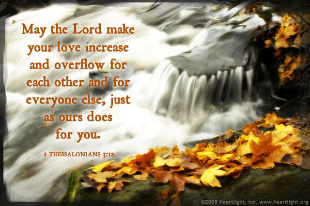 Inspirational illustration of 1 Thessalonians 3:12