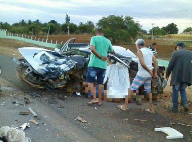 Irecê: Quatro pessoas da mesma família morrem em colisão na BA-052