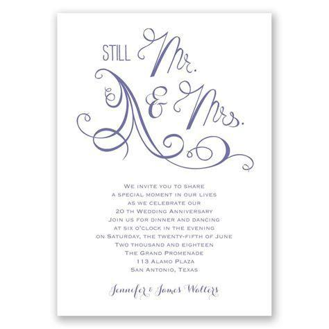 Still Mr. and Mrs. Anniversary Invitation   Invitations By