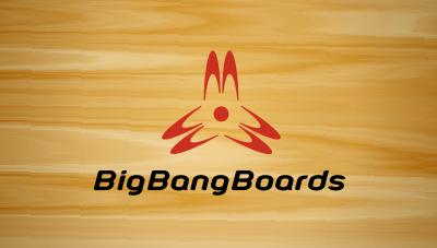 Big Bang Boards : a longboard label, providing professionally handmade Longboards logo design