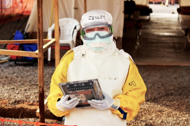Google created a special tablet for use in Ebola treatment centers