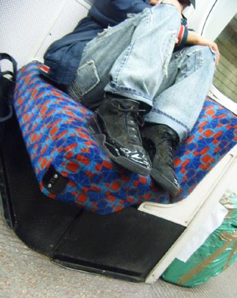 Feet on seats