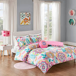 Mi Zone - Camille Floral Comforter Set - Pink - Full/Queen