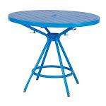 "Safco CoGo 36"" Steel Patio Bistro Table in Blue - 4362BU"