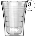14 Oz Microwave Safe Plastic Double-Insulated Cup for Ninja Coffee Bar (8 Pack) by VM Express