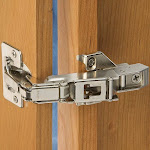 Blum Pair of 170-Degree Clip Top Face Frame Screw-On Cabinet Hinge with Mounting Plate