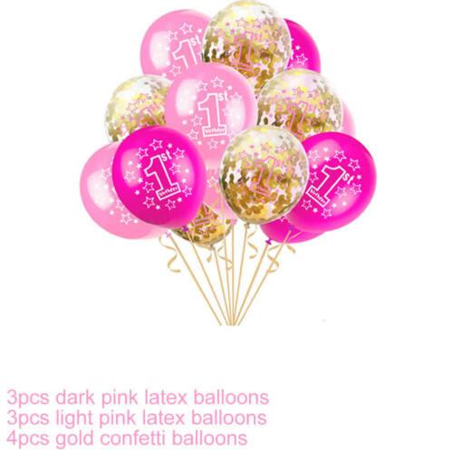 Party Supplies Baby Boy Girl 1st First Birthday Latex Confetti Balloon I Am One Bunting Banner Home Furniture Diy Quatrok Com Br