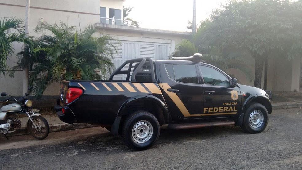 PF cumpre mandados em Palmas, durante a operação Stellio (Foto: Marcel de Paula/TV Anhanguera)