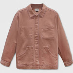 Women's Plus Size Long Sleeve Chore Jacket - Universal Thread Brown 4X