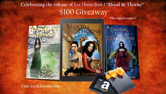 $100 Amazon Gift Card and Eva Thorne series Giveaway! | Lorel Clayton Author