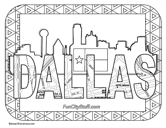 National Coloring Book Day Coloring Contest - FunCity Stuff DFW