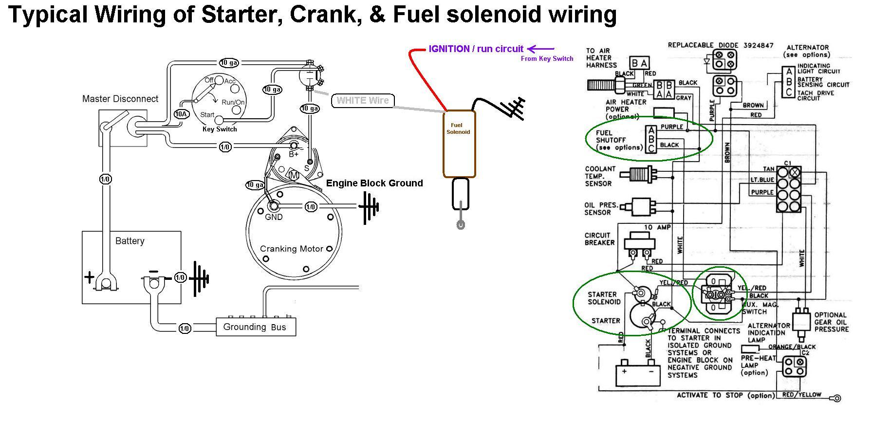 Starter, Crank & Fuel Shutoff Solenoid Wiring - Seaboard ...