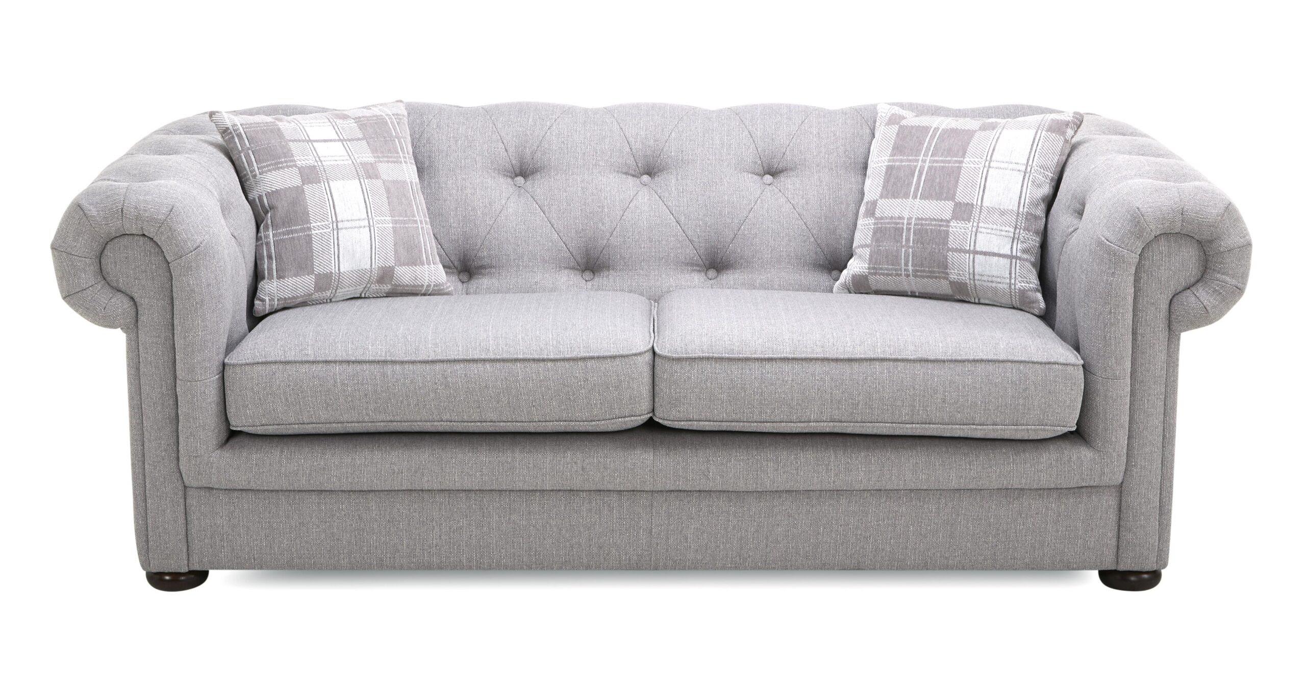 Chesterfield Sofa Samt Grau Set Couch Stoff Otto 2er Graue ...
