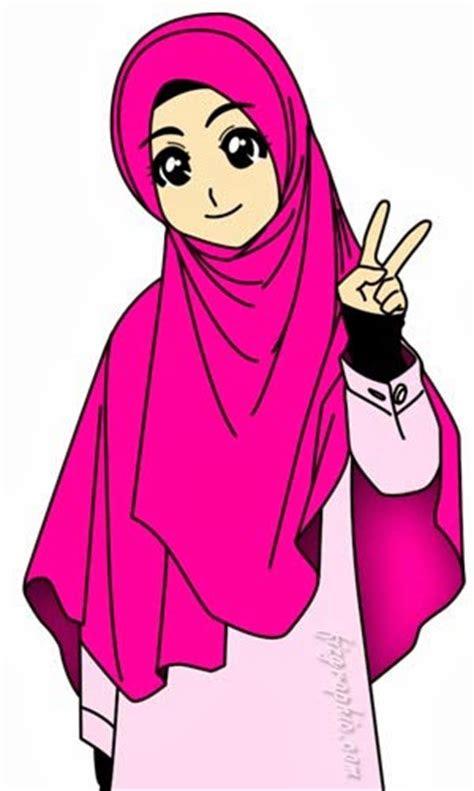 kumpulan gambar  foto gambar kartun wanita muslimah comel